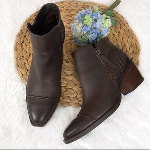 Paul Green Diandra Cap Toe Ankle Leather Boots 7.5